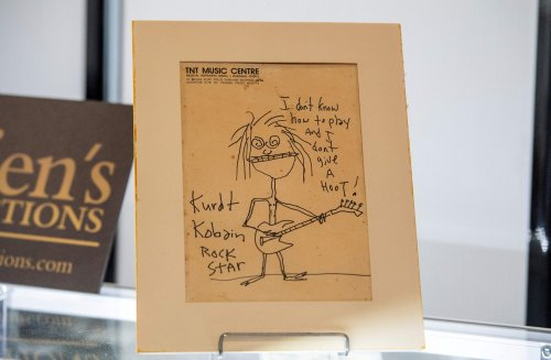 Kurt Cobain's caricature self-portrait sells for nearly $300,000 at auction