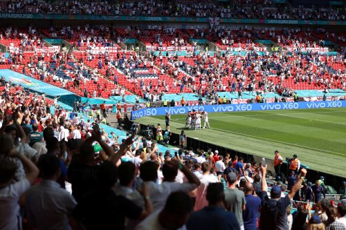 Football fan in serious condition after falling from stands at Wembley as England beat Croatia