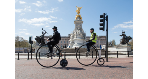 I learned to ride a penny-farthing and became an instant tourist attraction