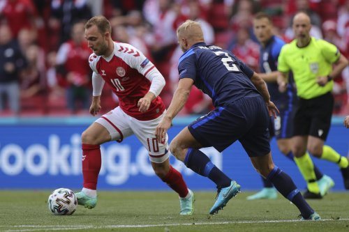 Denmark's Christian Eriksen's condition stable after collapsing on the pitch at Euros