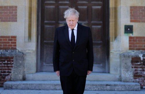 Boris Johnson and Sir Keir Starmer pay respects to Prince Philip