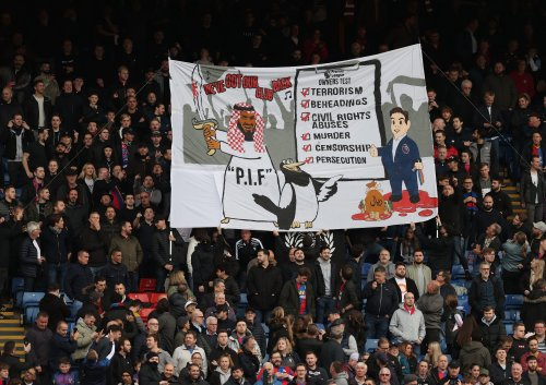 Police investigating Crystal Palace fans' banner criticising Newcastle United takeover
