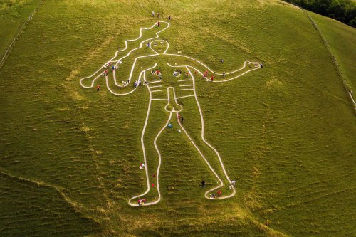 UK's largest chalk figure revealed as medieval art - and not an insult to Oliver Cromwell