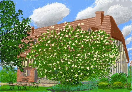 David Hockney's bright, blossom-laden show at the Royal Academy would look better on an iPad