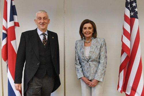 Nancy Pelosi visits Chorley as Sir Lindsay Hoyle holds Speakers' summit in his hometown
