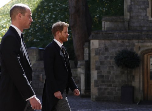 Prince William and Prince Harry put on united front at Prince Philip's funeral