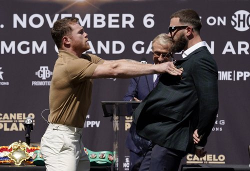 Plant denies insulting Canelo's mother after being cut during furious press conference brawl