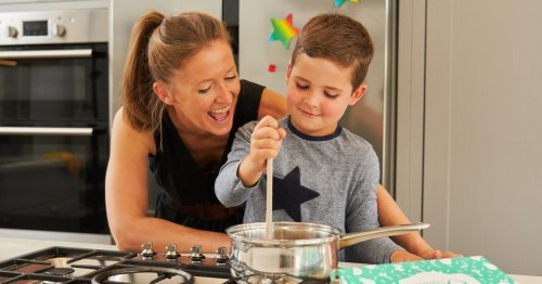 Half-term cooking with children is fun and can teach them healthy eating