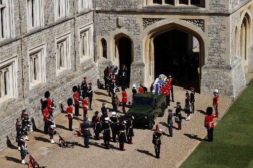 Queen leads the Royal Family in saying final farewell to Duke of Edinburgh