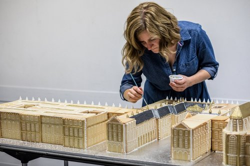 Architectural gingerbread maker Emily Garland 'builds' Palace of Versailles in painstaking detail