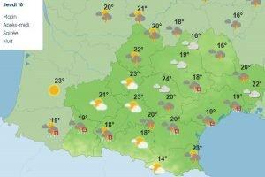 Météo France : encore de la pluie et des orages dans le sud-est
