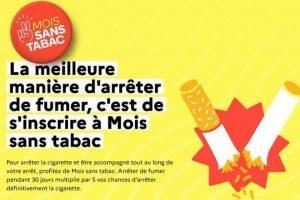 6ème édition du défi Mois Sans Tabac