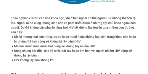 HIV/AIDS lây qua những con đường nào - Infogram