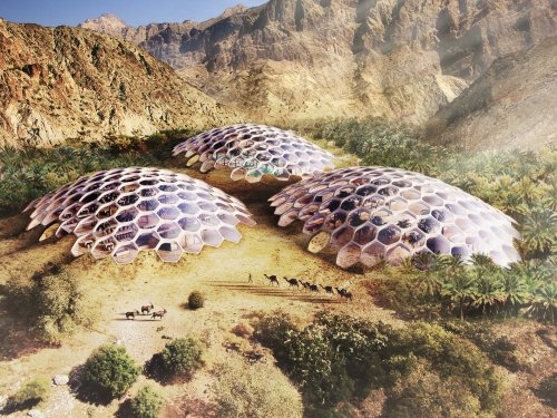 These beautiful desert biodomes will be 100% self-sustaining