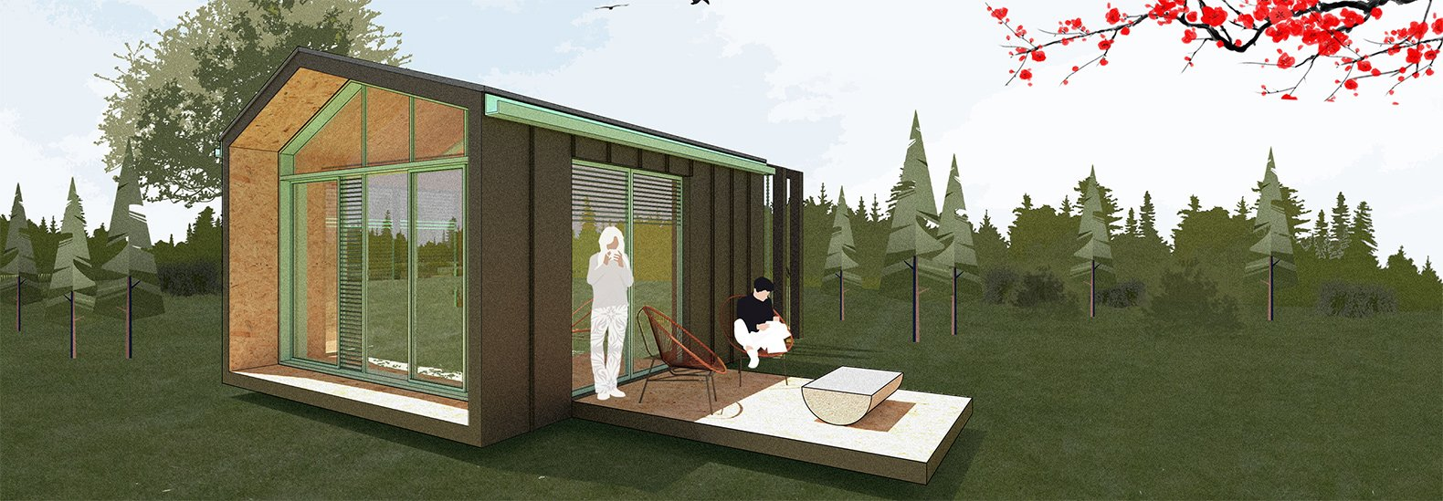 This micro-home is low-impact, convenient and versatile