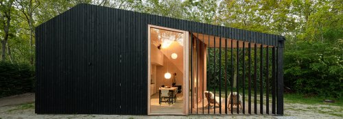 Prefab holiday home in the Netherlands features transforming rooms