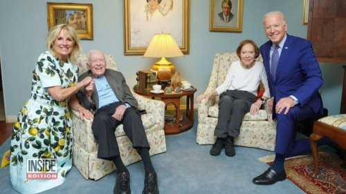 What's the Deal With This Distorted Photo of the Bidens and Carters?