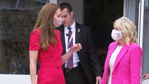Jill Biden and Kate Middleton Wear Matching Pink Outfits at 1st Meeting