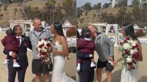 Tom Hanks Crashes Couple's Beach Wedding to Compliment Its Beauty