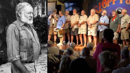 Bearded Men Compete in Ernest Hemingway Lookalike Contest