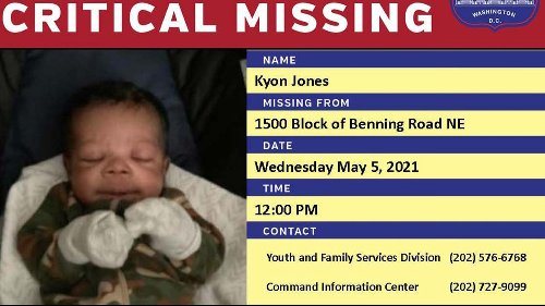 Washington DC Police Asking for Help in Search for Missing Baby