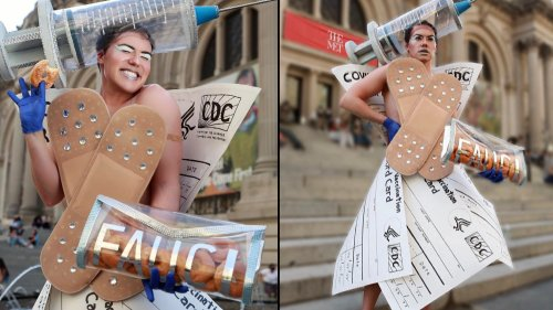 These Faux Met Gala Designs Were Made From Dollar Store and Household Items