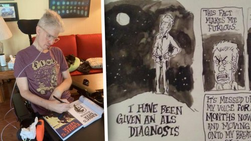 Georgia Comic Artist Patrick Dean Draws With His Eyes After ALS Diagnosis