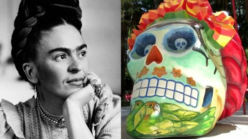 Huge Day of the Dead Skulls Honoring Frida Kahlo Pop Up Around Mexico City