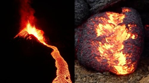 'Lava Eggs' Form by Active Volcano Near Reykjavik in Iceland