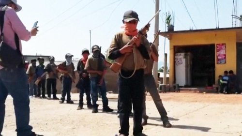 Kids In Guerrero, Mexico Being Trained to Use Military-Style Weapons