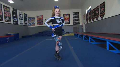 11-Year-Old Girl Whose Leg Was Amputated as a Baby Achieves Dream of Becoming a Cheerleader