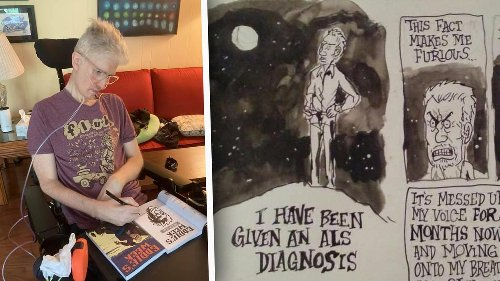Genius' Comic Artist With ALS Uses His Eyes to Draw