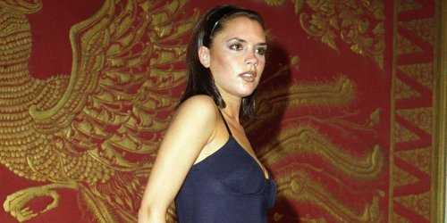Victoria Beckham recreated her iconic Posh Spice look in a little black dress