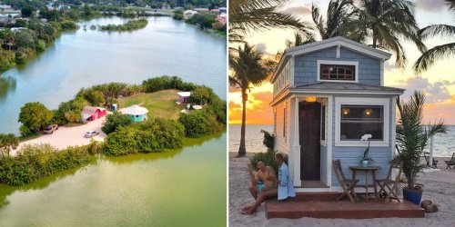 What life is like for a man who has 2 tiny houses on his own private island in Florida