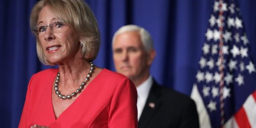 Former Education secretary Betsy DeVos says the GOP movement is not 'dependent on any one person,' without naming Trump