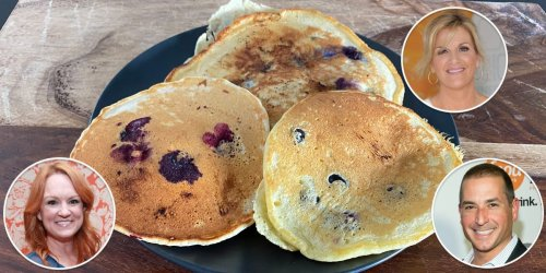 I tried 3 celebrity chefs' recipes for blueberry pancakes, and the best was super fluffy