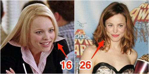 How old the stars of 'Mean Girls' were compared to their characters
