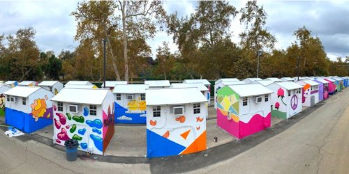LA has unveiled the US' largest prefab tiny home village for the homeless — see inside the $5.1 million community