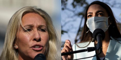 Marjorie Taylor Green is gunning for a debate with AOC over the Green New Deal — but admits she hasn't actually read 'all 14 pages' of it yet