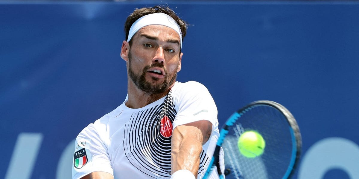 An Italian tennis player who repeatedly used a homophobic slur during a match said the extreme Tokyo heat made him do it