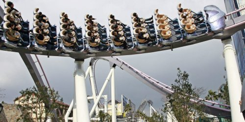 Riders were hanging upside down on a Universal Studios rollercoaster after a power outage, report says