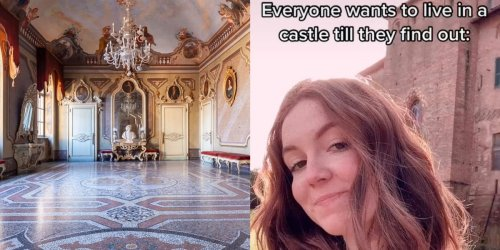 A 19-year-old TikToker says living in her family's medieval Italian castle is not the fairy tale you'd expect