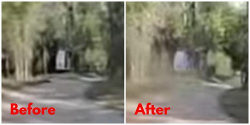 Close-ups of footage said to show Gabby Petito's van near where a body was found appear to show the rear door closing