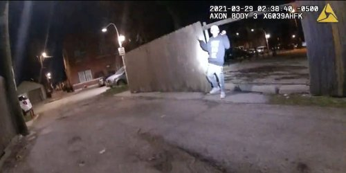 Graphic body-camera footage shows 13-year-old boy raising his hands before being fatally shot by a Chicago police officer