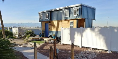 A couple in Las Vegas made $21,000 in a year after they parked a tiny house in their backyard and listed it on Airbnb — here's how they did it