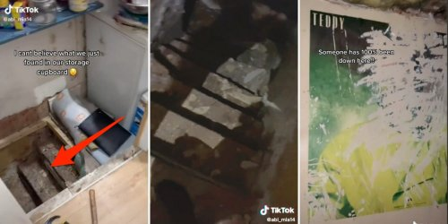 A TikToker discovered a hidden staircase leading to a secret basement in their house