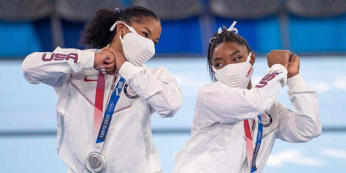 Simone Biles' teammates beautifully explained why their silver medal felt like gold