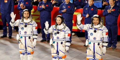 3 astronauts arrived at China's new space station, which it's building as it's banned from the International Space Station