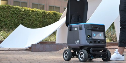 Chick-fil-A is testing out deliveries with a robot that can wink and transport chicken sandwiches