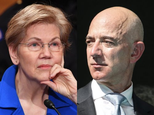 Elizabeth Warren clashed with Amazon over unionization and said she'd break up Big Tech so that it can't 'heckle senators with snotty tweets'